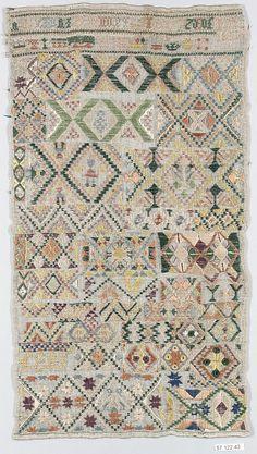 Dutch Sampler ~ 1817 ~ Silk on canvas ~ Metropolitan Museum of Art