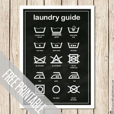 Laundry Guide Printable