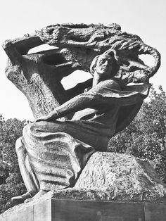 #fineartphotography #travelphotography #blackandwhitephotography #Chopin #Warsaw #Poland #Chopinmonument #classicalmusic #artistsonpinterest #photographersonpinterest #musiciansonpinterest