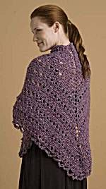 Easy Triangle Prayer Shawl.  Free pattern.  Easy quick and looks great.