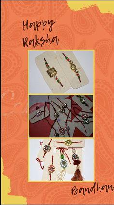Photo Rakhi , name Rakhi , designer Rakhi available Order whatApp 9908171119 Rakhi Bracelet, Facebook, Happy, Movie Posters, Handmade, Accessories, Design, Art, Art Background