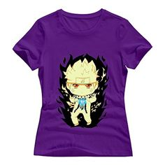 Purple VAVD Girlfriend's Anime Naruto Short-Sleeve T-Shirt Size XXL - Brought to you by Avarsha.com