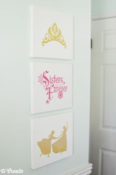 Frozen Canvases for Little Girl's Bedroom