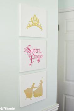 DIY Frozen Girls Bedroom Decor by MichaelsMakers U Create