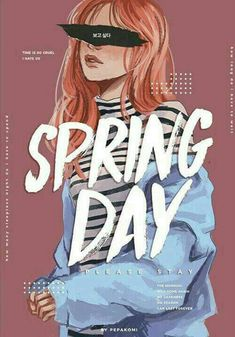 BTS / Spring Day / Fanart by pepakomi Bts Jimin, Bts Bangtan Boy, Wallpapers Ipad, Bts Girl, K Wallpaper, Unique Wallpaper, Bts Drawings, Pencil Drawings, Fan Art