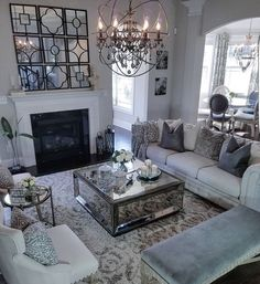 The Battle Over Beautiful Traditional Living Room Decor Ideas And Remodel and How to Win It The Argument About Beautiful Traditional Living Room Decor Ideas And Remodel You could sell your home and move to a larger home. Fancy Living Rooms, Living Room Designs, Glam Living Room, Elegant Living Room, Living Room Grey, House Interior, Comfy Living Room, Apartment Decor, Living Room Decor Traditional