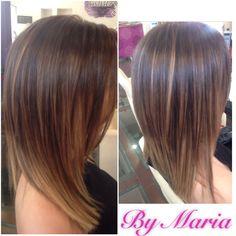 Balayage by Maria Michailou @ MAKi HairSalon / Greece Asian Hair Bob, Bob Hairstyles, Hairdresser, Greece, Short Hair Styles, Hair Color, Beauty, Haircuts, Greece Country