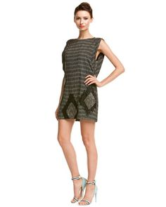 Some of you have to get in on this: L.A.M.B. Ivory & Black Beaded Ikat Tunic