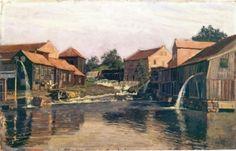 Akerselva by Nedre Foss 1882