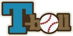 T-Ball SVG scrapbook title baseball svg files sports svg files free svgs cute svg cuts