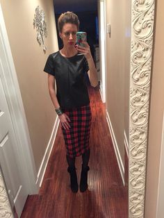 Leather + Plaid
