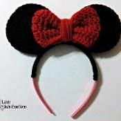 "Original pinner said, ""Minnie Mouse Inspired Headband - via @Craftsy"