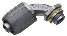 "Arlington Industries - NMLT90200 - 2"""" SNAP2IT 90 Degree Non-Metallic Push On Carflex Connector"