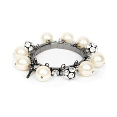 I love the Betsey Johnson Pearl & Fireball Bracelet from LittleBlackBag