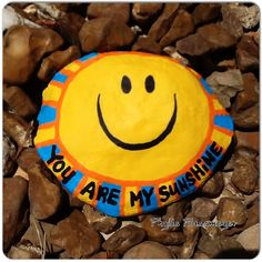 You Are My Sunshine - Painted rock by Phyllis Plassmeyer