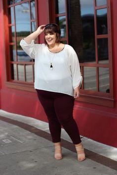 Plus Size Clothing for Women - Jessica Kane 1/2 Sleeve Top - Animal Trim (Sizes 14 - 24) - Society+ - Society Plus - Buy Online Now!