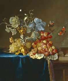 Still life by Willem Van Aelst