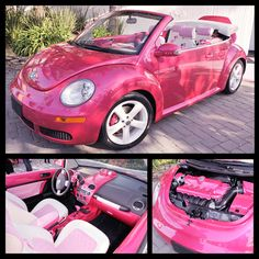 My Dream car is a VW Beetle - extra points for a pink Barbie one. ;) - found this lovely edition created by VW within a yahoo search.