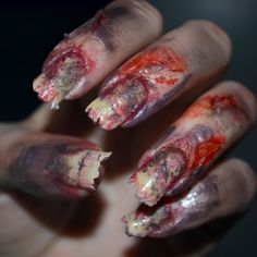 DIY back from the grave nails for Halloween to help complete any zombie costume!