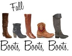 Boots, Boots, Boots. Fall's biggest accessory!