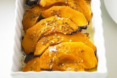 Roast honey and cumin pumpkin | 1kg Queensland blue pumpkin (see note), peeled, deseeded, sliced into 1cm-thick wedges  1 tablespoon olive oil  2 teaspoons honey  2 teaspoons cumin seeds