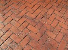 herringbone brick floor
