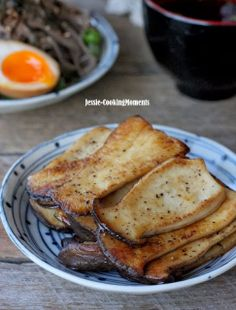 Pan-fried King Oyster Mushrooms