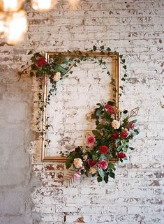 Arrow Wedding Inspiration Cupid's Arrow Wedding Inspiration - photo by Jenna Henderson /.Cupid's Arrow Wedding Inspiration - photo by Jenna Henderson /. Deco Floral, Floral Design, Floral Wall, Floral Artwork, Floral Theme, Art Floral, Dream Wedding, Wedding Day, Trendy Wedding