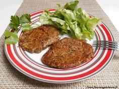 """""""Steaks"""" aux champignons (sans oeuf) . Je suis curieuse de gouter."""