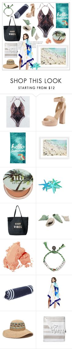 """""""Beach Vibes"""" by jspe8 on Polyvore featuring Stuart Weitzman, Outdoor Oasis, Urban Decay, Venus, Bobbi Brown Cosmetics, The Beach People, GUESS, ále by Alessandra and Serena & Lily"""
