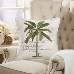 Found it at Wayfair - Majestic Palm Pillow Cover