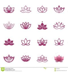 Vector floral labels for Wellness industry - Lotus symbol icons. Vector floral labels for Wellness industry - Mini Tattoos, Trendy Tattoos, Cute Tattoos, Small Tattoos, Tattoos For Women, Tattoos For Guys, Tattoo Women, Tattoo Finder, Yoga Tattoos