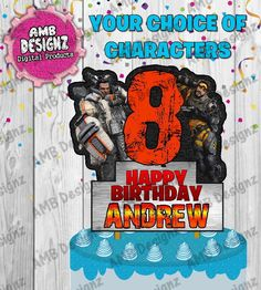 AMBDesignz's Birthday / Apex Legends - Photo Gallery at Catch My Party Diy Cake Topper, Cake Toppers, Album Book, Party Items, Party Photos, Scrapbook Albums, Diy Party, Birthday Party Themes, Party Supplies