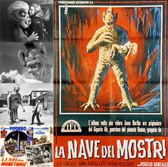 """La Nave de los Monstruos (""""The Ship of Monsters"""") is a 1960 Mexican sci-fi/horror/western film, that was for a long time a much-mocked relic of its era, rife with tin-pot ideas … Western Film, Sci Fi Horror, Science Fiction Art, Film Review, Pulp Art, Ship, Mexican, Facebook, Vintage"""