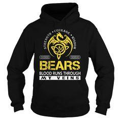 BEARS Blood Runs Through My Veins - Last Name, Surname TShirts