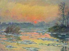 クロード・モネ 《セーヌ河の日没、冬》 1880年