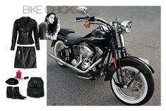 """Back To Black"" by karenannie on Polyvore featuring Harley-Davidson, Dsquared2, VIPARO, NOVICA and Penny Loves Kenny"