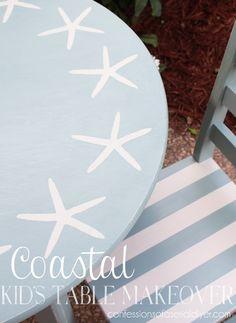 Coastal Inspired Kid's Table