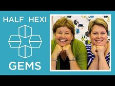 Hexi Gems Applique: Easy Quilting Tutorial with Jenny Doan of Missouri Star Quilt Co Lisa Hirsch - This one's for you, Llb♡♡♡♡♡ Missouri Quilt Tutorials, Quilting Tutorials, Msqc Tutorials, Quilting Projects, Quilting Tips, Jenny Doan Tutorials, Charm Pack Quilts, Easy Quilts, Star Quilts