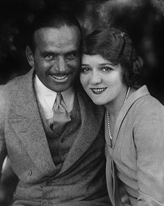 1927 Actor Douglas Fairbanks and his wife, actress Mary Pickford.