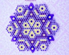 Purple Ornament Hama Beads by TCAshop on Etsy