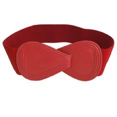 Ladies Interlocking 8-shaped Buckle Elastic Red Waist Belt Allegra K http://www.amazon.com/dp/B00880B2AQ/ref=cm_sw_r_pi_dp_lXbkwb1BPG4X2
