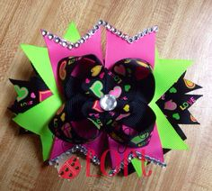 Valentine's Day Bow, Hairbow, Hair Bow, Boutique bow on Etsy, $9.00