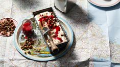 Nougat ice-cream with nuts & glacé fruits | Ice-cream recipes | SBS Food