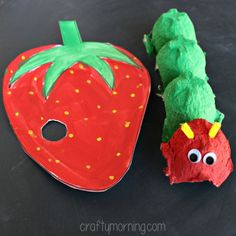 """Learn how to make an egg carton caterpillar craft! This is a fun art project for kids to make while reading the book """"The Very Hungry Caterpillar"""" by Eric Carle. Kids Crafts, Spring Crafts For Kids, Diy For Kids, Egg Carton Caterpillar, Hungry Caterpillar Craft, Eric Carle, Chenille Affamée, Preschool Art Activities, Egg Carton Crafts"""