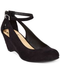 American Rag Miley Chop Out Wedges, Only at Macy's - Black 7.5M