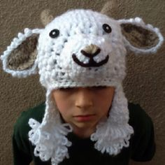 Crochet goat hat
