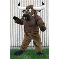 Can be washed with water Helmet Long bison Mascot Costumes