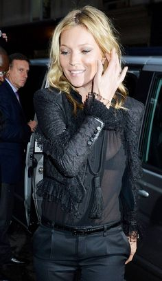 The Many Black Jackets of Kate Moss | Who What Wear UK