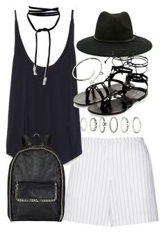 """""""Outfit with shorts for summer"""" by ferned on Polyvore featuring Forever 21, Sandro, Zara, STELLA McCARTNEY and Cartier"""